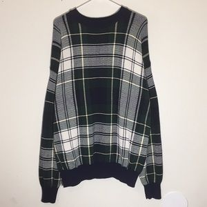 🔥Vintage 1990s Nautica Plaid Sweater